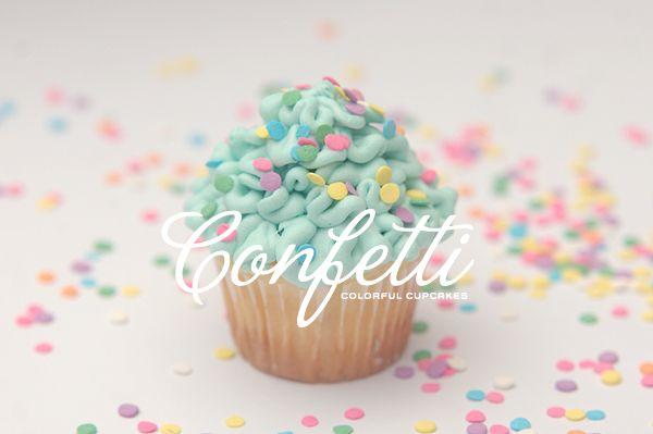 Confetti Colorful Cupcakes - fun way to ice a cupcake
