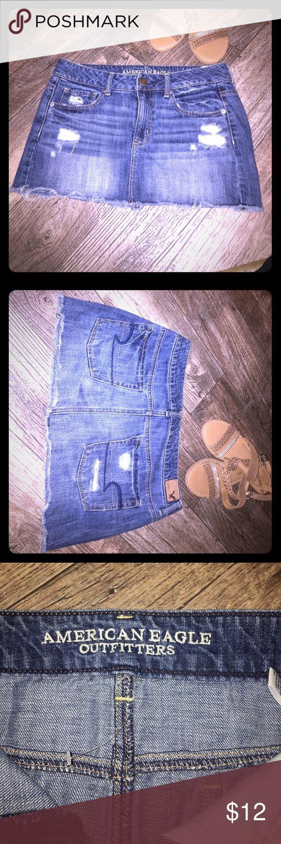 American Eagle jean mini skirt - Makes an offer!! American Eagle jean mini shirt -- Must Go! Make me an offer!! American Eagle Outfitters Skirts Mini