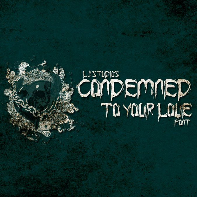 Condemned to your love font cover