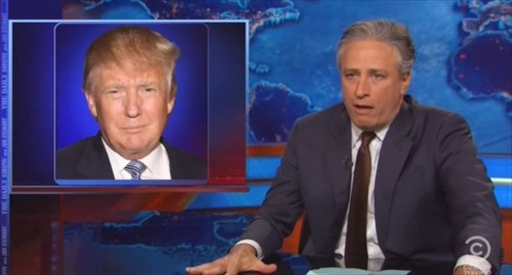 Jon Stewart reacts to Donald Trump's possible 2016 run on May 28, 2015. [YouTube]