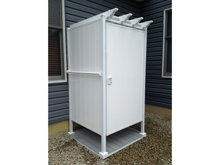 Swimming Pool Shower Stalls : Best images about outdoor shower stalls on pinterest