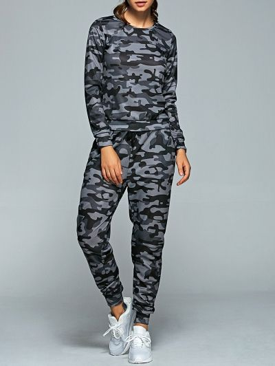 SHARE & Get it FREE | Active Camo Sweatshirt and Jogger PantsFor Fashion Lovers only:80,000+ Items • New Arrivals Daily Join Zaful: Get YOUR $50 NOW!