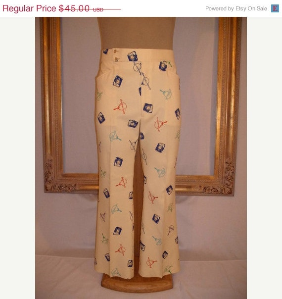 25 OFF SALE Vintage Bob Hope Classic Golf Trousers by thebazarhome, $33.75