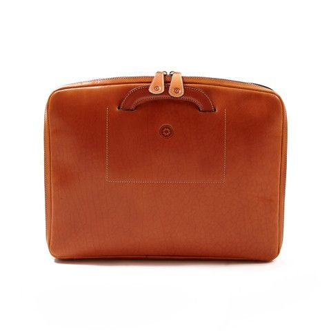 """Leather Office Bag Belgrano 15"""" Natural"""