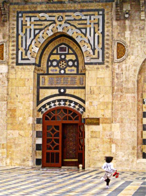 Stone and tile work in Syria