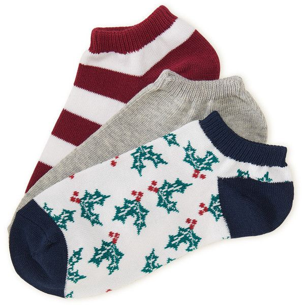 Aeropostale 3-Pack Holly, Solid & Bar Stripe Ankle Socks (£3.33) ❤ liked on Polyvore featuring intimates, hosiery, socks, classic navy, aéropostale, navy socks, aeropostale socks, low cut socks and tennis socks