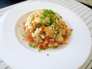 「残った焼鮭で簡単!!鮭チャーハン☆」余った焼鮭で簡単オシャレな(?)昼ごはん☆子供も喜びます♪【楽天レシピ】