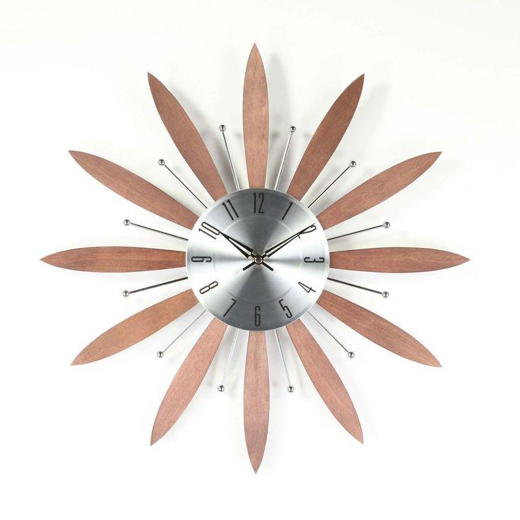 "Stilnovo 19.25"" Floral Clock"