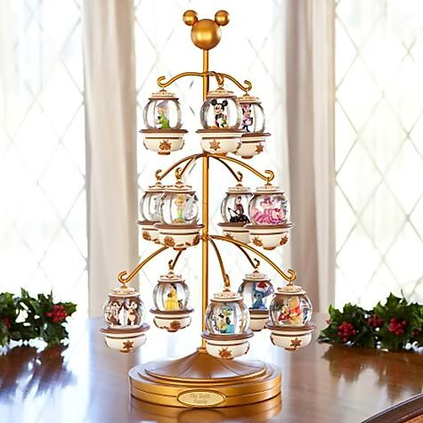 Disney Snow Globe Ornament Tree...I just died! So cool!