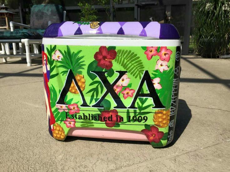 lambda chi alpha ΛΧΑ Hawaiian shirt pattern floral pattern cooler side