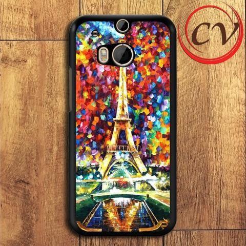 Eiffel Tower HTC One M8 Mini Black Case