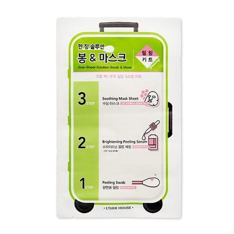 [ETUDE HOUSE] One-Sheet Solution Swab & Mask (Peeling Kit)