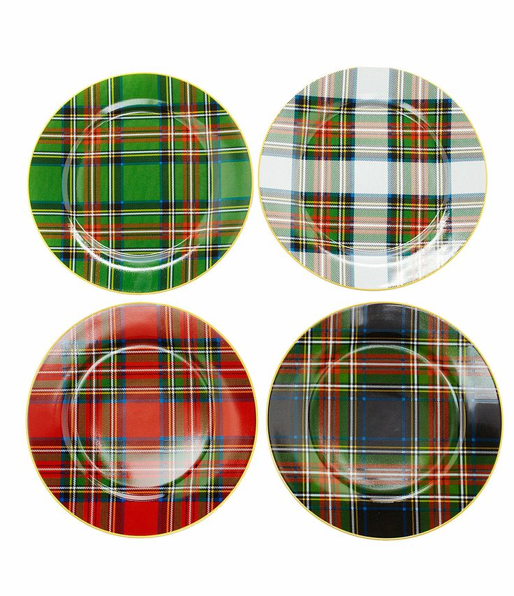 Noble Excellence Holiday Plaid Accent Dinnerware From