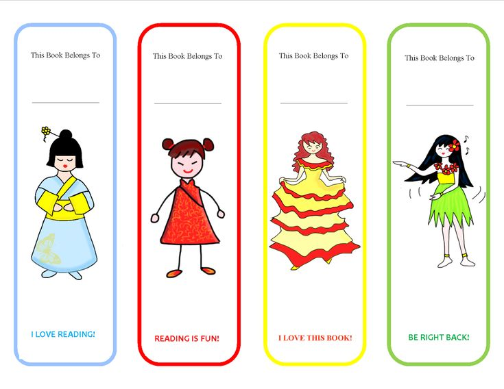 Printable Bookmarks for Girl | Activity Shelter