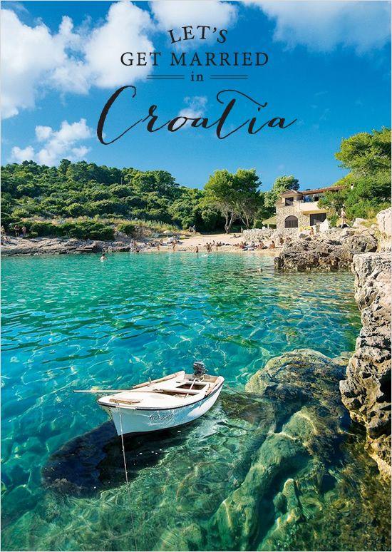 Need a fabulous destination idea? Croatia is stunningly beautiful. ---> http://www.weddingchicks.com/2014/05/16/get-married-in-croatia/