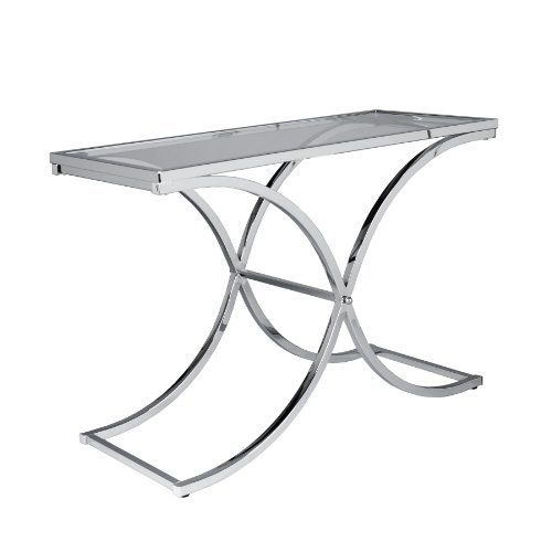 vogue chrome sofa table black leather nailhead 15 best home & kitchen - tables images on pinterest ...