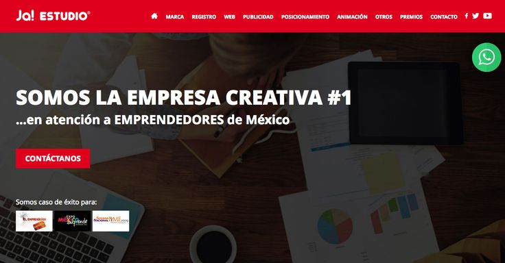 http://www.grupojaestudio.com/ Me encanta el uso de los colores también, tiene un diseño simple pero bonito.