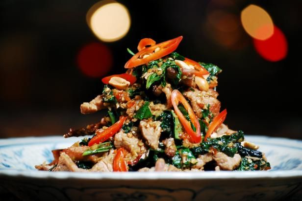 Get Beef Tossed with Wild Betel Leaf and Lemongrass: Bo Xao La Lot Recipe from Cooking Channel