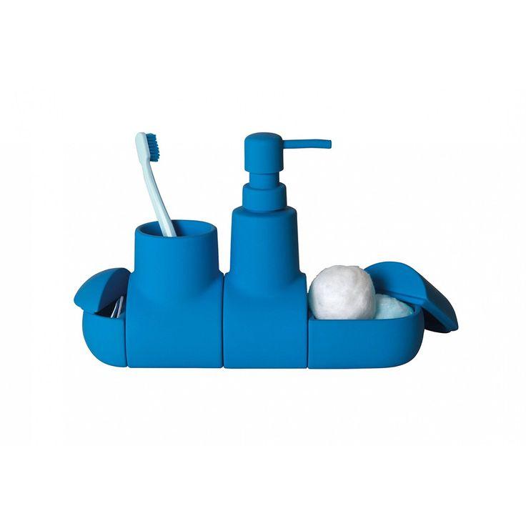 Очаровательная подводная лодка из фарфора поможет держать все ванные…