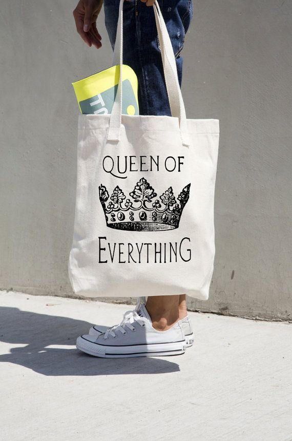 Reina de todo bolsa cotización regalo para por PrettyPennyPrints