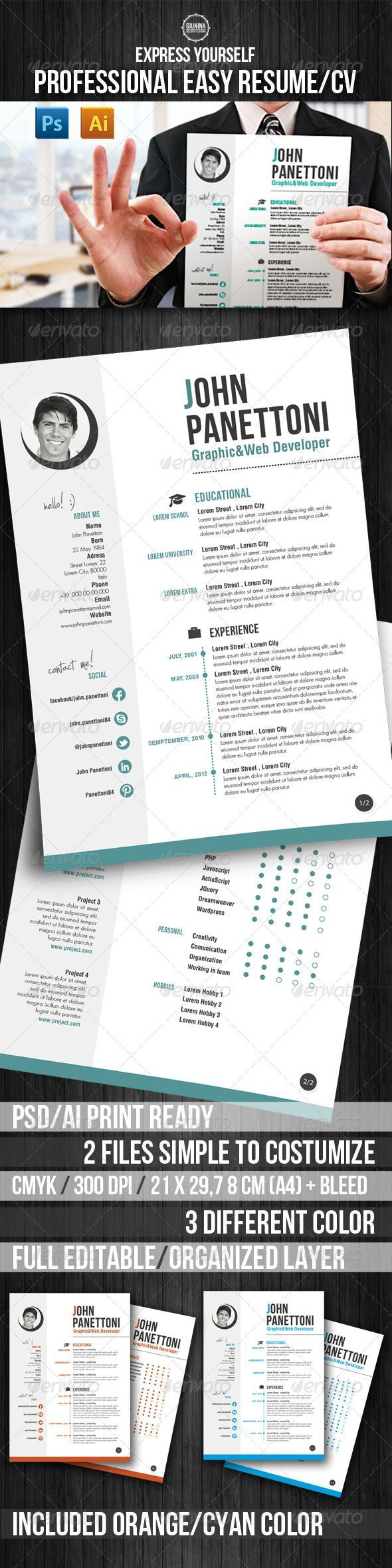 executive housekeeper resume%0A Professional Easy Resume CV  Resumes Stationery