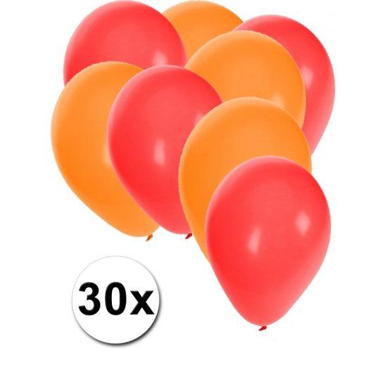 Rode en oranje ballonnen 30 stuks  30 stuks ballonnen in de kleuren rood en oranje. Van elke kleur 15 ballonnen leuk voor verjaardagen en themafeesten. Formaat is ongeveer 27 cm. Goede kwaliteit.  Dit artikel bestaat uit: 1x Rode ballonnen 15 stuks 1x Oranje ballonnen 15 stuks  EUR 2.99  Meer informatie