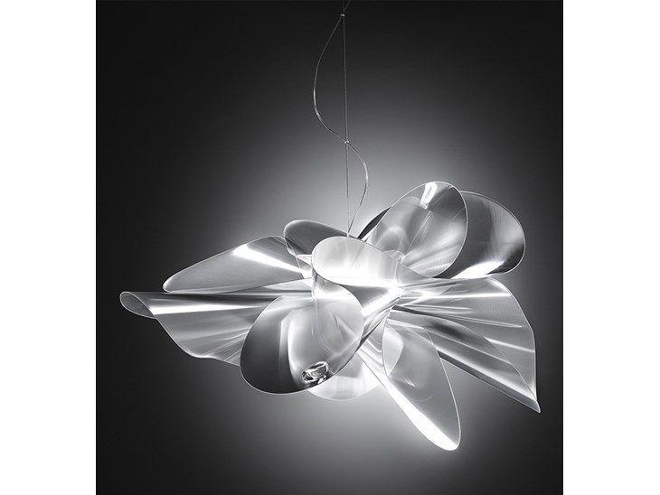 ETOILE - nowoczesna, designerska lampa sufitowa projektu Adriano Rachele dla SLAMP Lampa sufitowa Etoile ma coś z tutu (spódniczki) baleriny, podnosi się i opada niczym sukienka w odpowiedzi na ruchy  ...