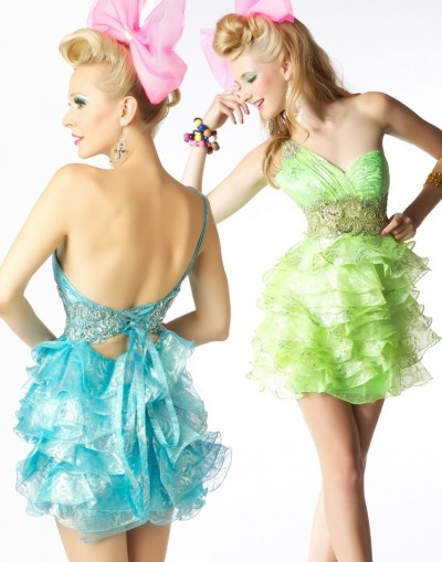 @Mac Duggal 76264B one-shoulder with ruffled skirt #prom #homecoming #dresses #IPAProm #Prom360