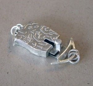 Making The box clasp   Carla M Fox Metalsmith - more complex for serious tools