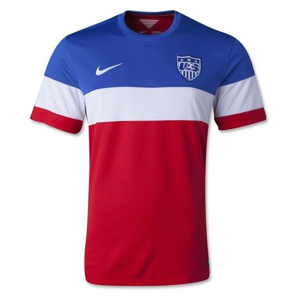 USA 2014 Away Football Shirt.If you are a football fan, come to our shop  to buy a new shirt for yourself and to represent your love for your favorite player.Free shipping if you order more than $99 and enjoy 10% off by shop over £100.Discount Code:cutoff10%. http://www.fifafootballshirts.co.uk/usa-shirt/usa-2014-away-football-shirt.html