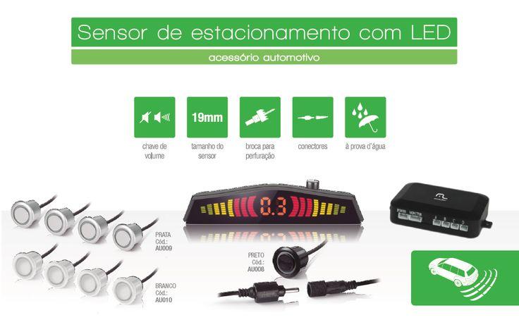 Kit de Ré c/ Sensor p/ Estacionar LOJA VIRTUAL TECNOMIDIA