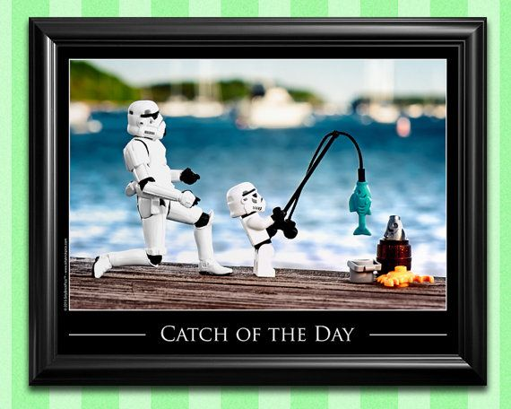 Väter Tag Geschenk Ideen - Vater und Sohn Angeln Geschenke von Kinder - Star Wars Art Väter Tag heute
