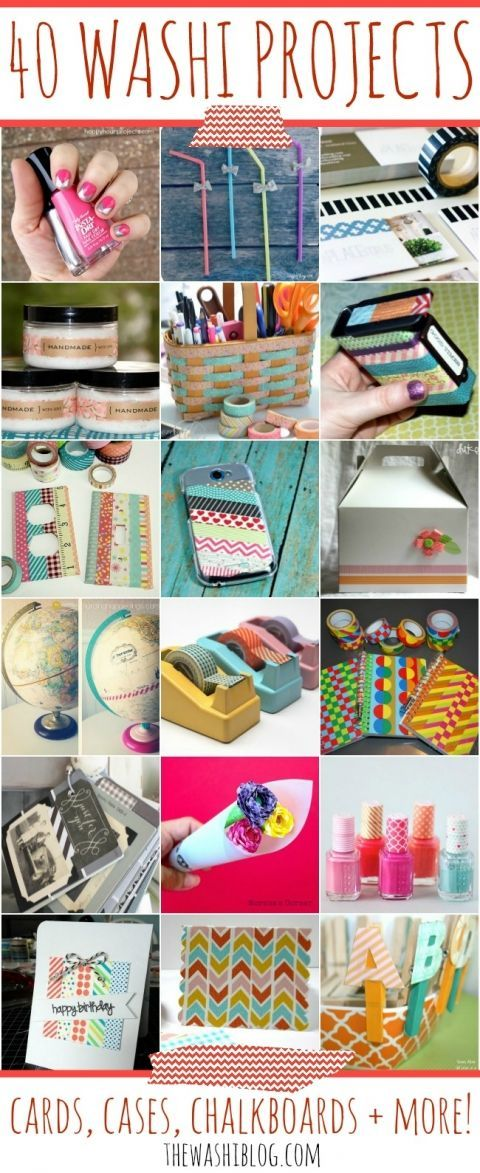 40 Washi Tape Projects – Cards, Cases, Chalkboards and More! For more washi projects and inspiration visit thewashiblog.com | #washi #washitape