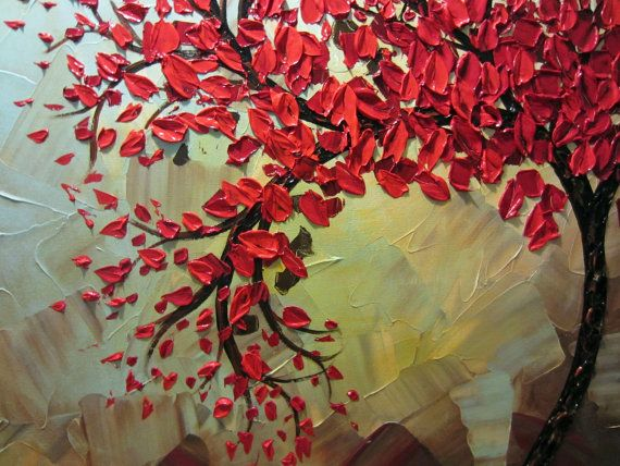 red tree painting -- beautiful.  planning to put a Bible verse on it.