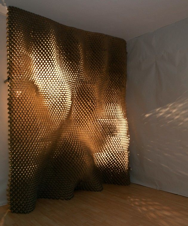 The completed installation controls light and opacity between two sides of a room (Infrared)