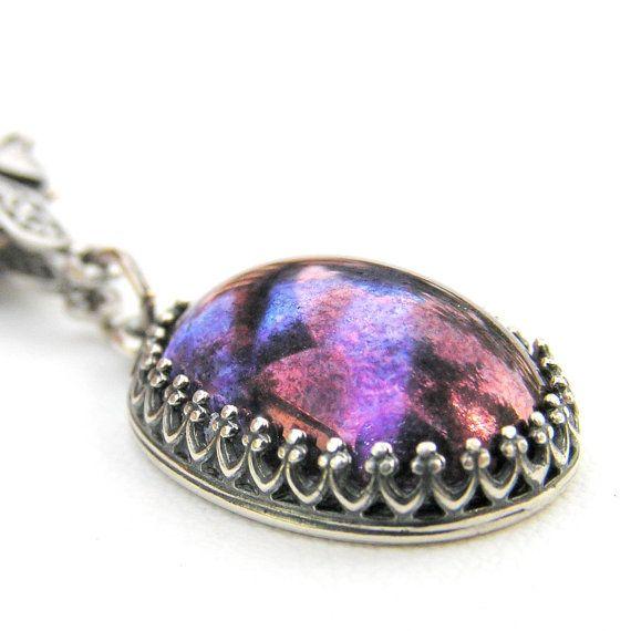 Best 25 purple pendants ideas on pinterest purple jewelry purple pendant neckalce vintage japanese by lovelandshadetree 3400 mozeypictures Gallery
