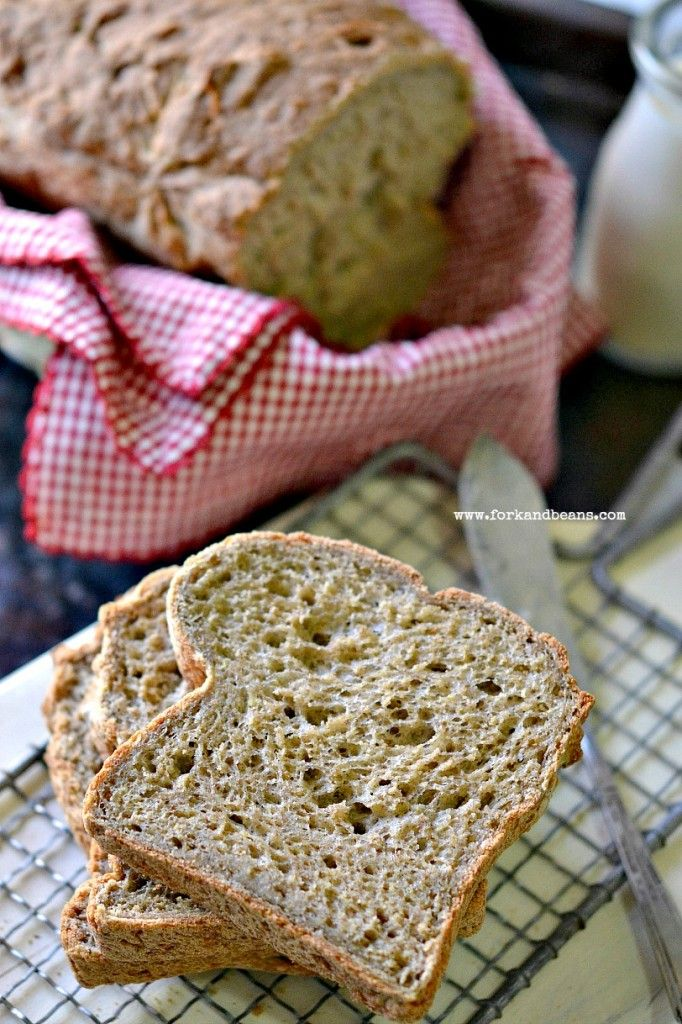 Gluten-Free & Vegan Bread - Fork & Beans #glutenfree #vegan #breadrecipes