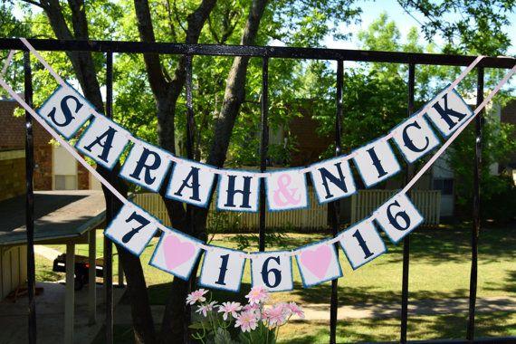 Bandera de boda - despedida de soltera decoración pancartas - decoración fiesta de compromiso - personalizar tu nombre