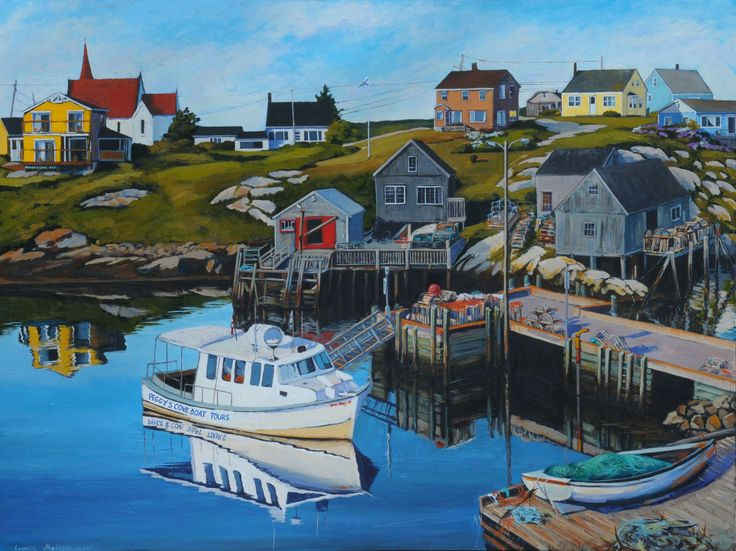 """Living by the sea"" 30X40 acrylic, available at Teichert gallery in Halifax"
