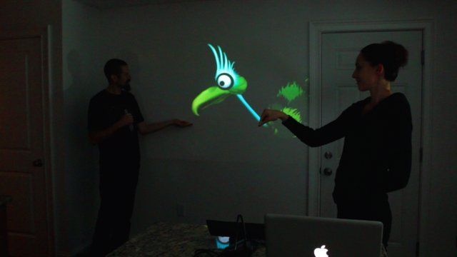 Interactive Puppet Prototype with Xbox Kinect by Theo Watson. Update: check the 2.0 version! http://vimeo.com/34824490