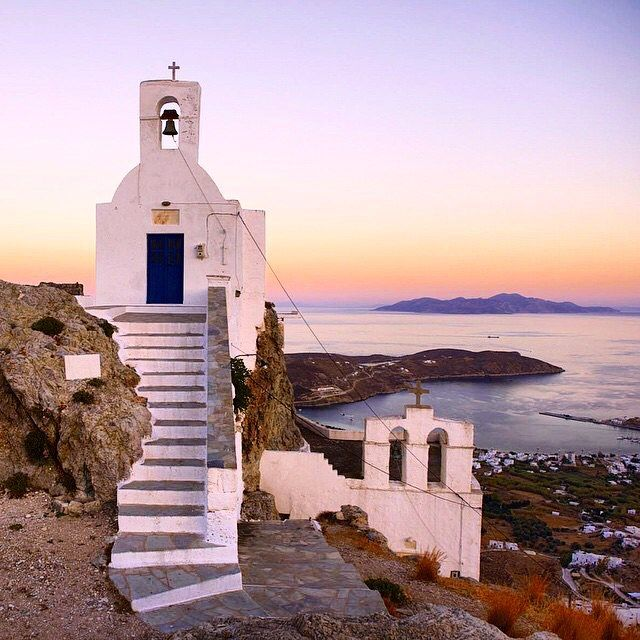 Beautiful church of Agios Konstantinos , at Serifos island (Σέριφος) . Relaxing & wonderful moment at Sunset time ...