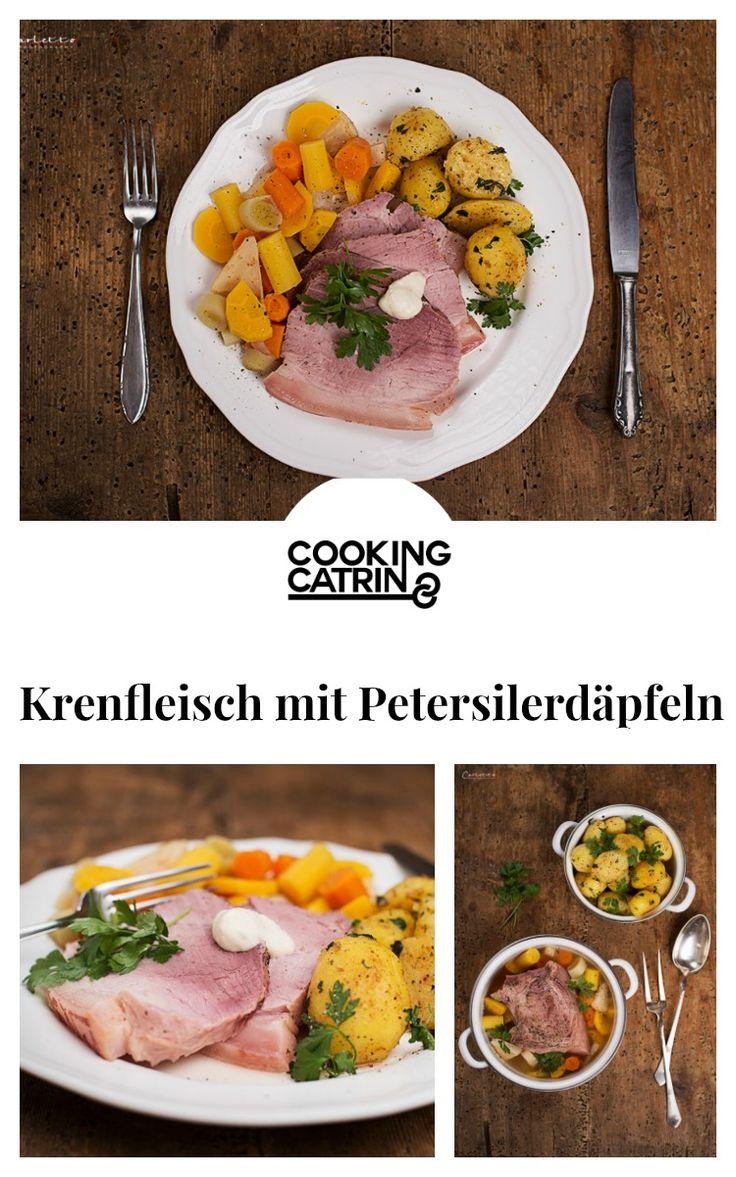 Krenfleisch, Petersilerdäpfel, Petersilkartoffel, Traditionsrezept, traditionelles Rezept, Fleischrezept, traditional recipe, austrian recipe, carinthian recipe, meat, horseradish meat, potatoes, vegetables
