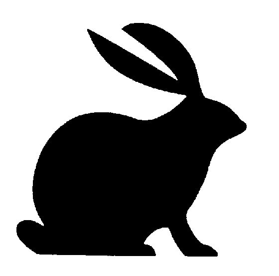 clipart image bunny silhouette - photo #42