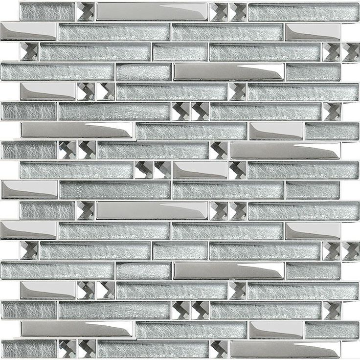 wholesale crystal glass tile mosaic sticker silver diamond interlocking tiles mirror wall designs discount tile backsplash - Wall Designs With Tiles