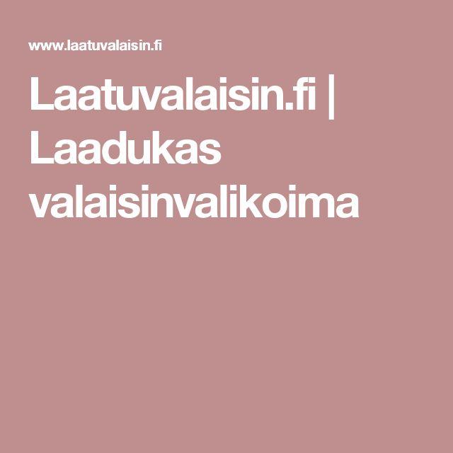 Laatuvalaisin.fi | Laadukas valaisinvalikoima