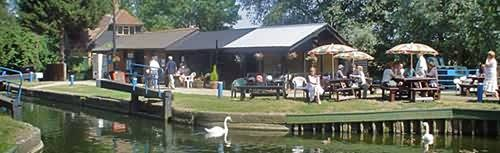 Paper mill lock tea rooms. Worth a visit and a walk along the beautiful River Chelmer here in Essex. Get there early it gets busy!!