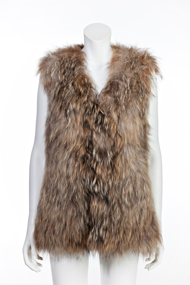 Raccoon vest, also available in black