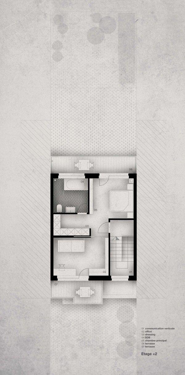 Maison A by Liliana Škrobot, via Behance