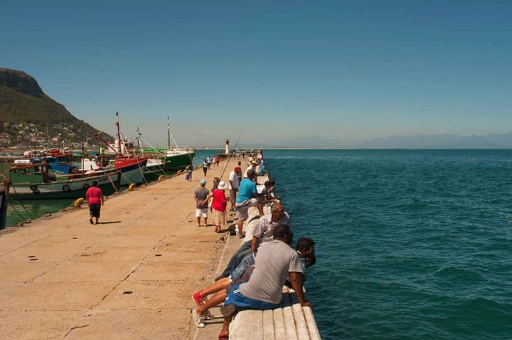 Promenera i vackra Kalk Bay Harbour i Kapstaden.