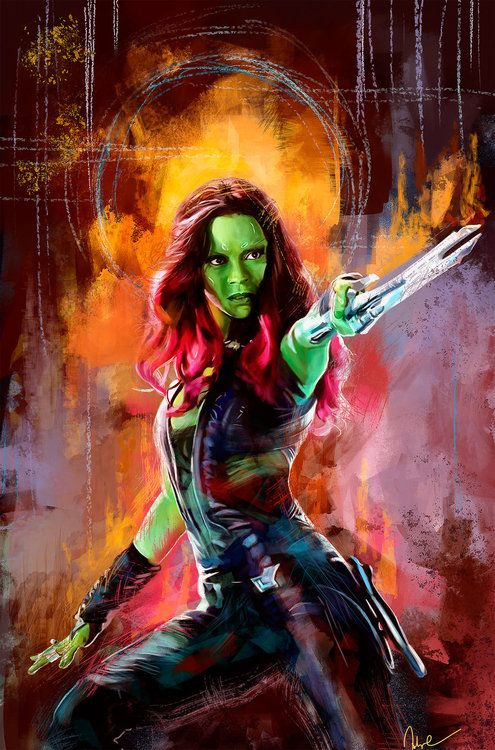 """Guardians of the Galaxy: Gamora"" - art by namecchan"